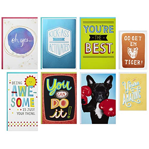 Hallmark Off to College, New Job, Everyday Encouragement Card Assortment (8 Cards with Envelopes)