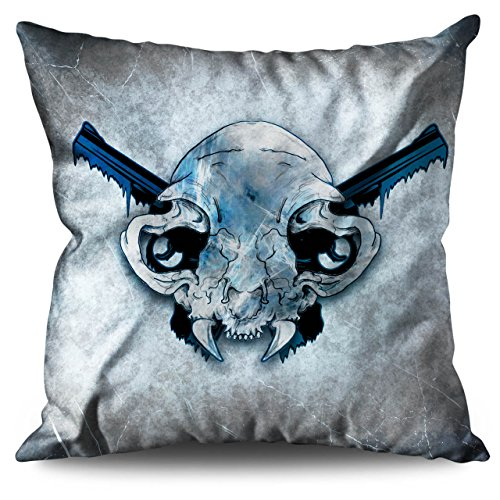Vampire Kiss Scary Horror Pistol Gun Linen Cushion 18
