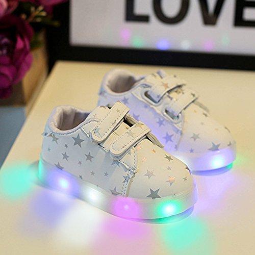 YanHoo Zapatos para niños Zapatos Ligeros para niños, niños y niñas, Zapatos radiantes de Colores, Flash LED, Zapatos para niños, Tabla de luz, ...