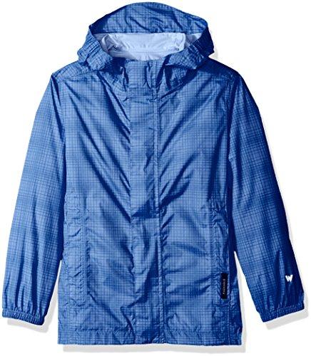- White Sierra Girl's Trabagon Printed Rain Shell, Provence Blue, Small