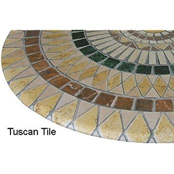 Amazon Com Mosaic Table Cloth Round 36 Quot To 48 Quot Elastic