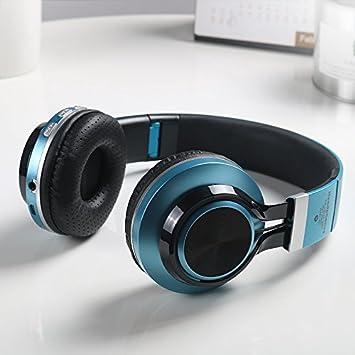 Auriculares inalámbricos Bluetooth sobre el oído, aislamiento de ruido, graves profundos, auriculares inalámbricos