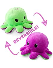 The Original Reversible Octopus Plushie   TeeTurtle's Patented Design   Polka Dot and Shimmer   Show your mood without saying a word!