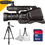 Panasonic AG-AC8PJ with 32GB SDHC Class 10 Memory Card High Speed, with Full Size 70inch Tall Tripod with 5avecamera Cloth
