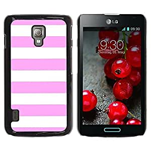 Graphic4You Color Stripes Pattern Design Hard Case Cover for LG Optimus L7 II (Light Pink) by ruishername