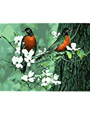 Counted cross stitch kit beginners adult Stamped Cross Stitch Kits canada Pre-Printed easy pattern funny Flowers and birds11 ct DIY Embroidery Crafts gift Needlework kits room Decor -16×20inch