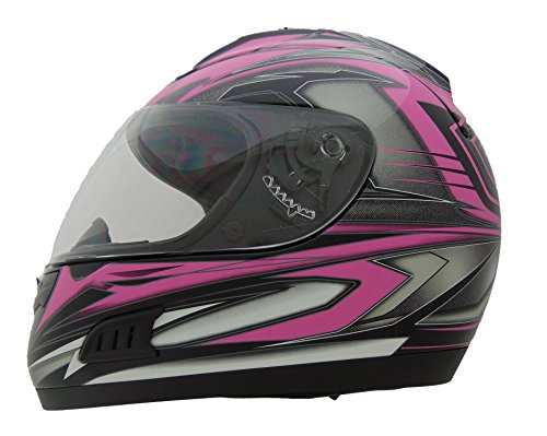 (Vega Helmets Altura Full Face Helmet with Velocity Graphics (Pink, Large))