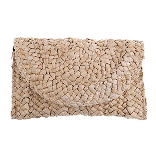 Femme Pastoral Style Sac A Straw Kesheng Accessoire Main Rustique Cabas Handbag zwqwXC
