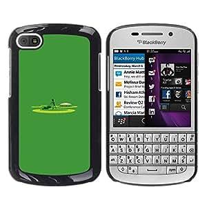TopCaseStore / la caja del caucho duro de la cubierta de protección de la piel - Minimalist Yard Work Lawn Mowing - BlackBerry Q10