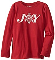 Life is good Girl's Easy Long Sleeve Snowflake Joy T-Shirt (Holiday Red)