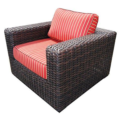 Club Milano (Teva Patio Santa Monica Wicker Rattan Patio Club Chair With Sunbrella Fabric)