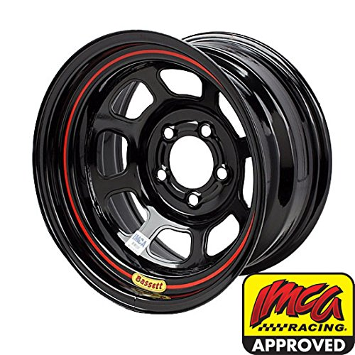 Bassett Wheels 58DF2I Black IMCA D-Hole Wheel Size: 15'' x 8''