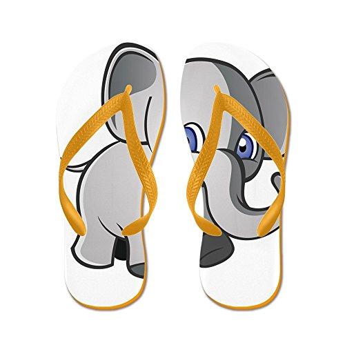 Cafepress Babyolifant 2 - Flip Flops, Grappige String Sandalen, Strand Sandalen Oranje