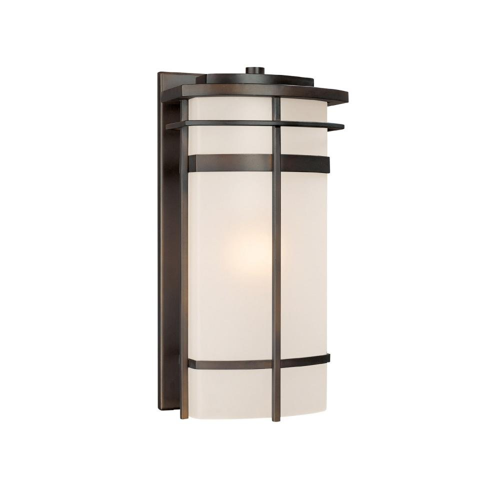 Capital Lighting 9881OB Lakeshore 1-Light Outdoor Wall Lantern, Olde Bronze with Frosted Glass
