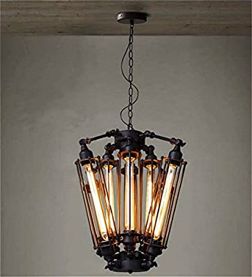 SUSUO Lighting Black Industrial LOFT Steampunk Steel Ceiling Light Industrial Chandeliers