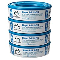 Mama Bear Diaper Pail Refills for Diaper Genie Pails, 270 Count (Pack of 4)