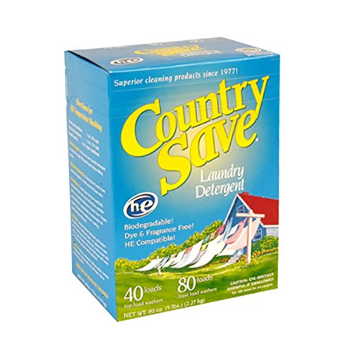 Fragrance Free Laundry Detergent Powder for HE and Regular Machines - Unscented, Biodegradable, Non Toxic Laundry Detergent Cold or Warm Water - Country Save Laundry Detergent, 5 lbs (80 oz)