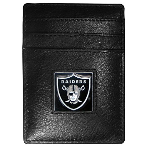 Oakland Raiders Leather Money Clip/Cardholder