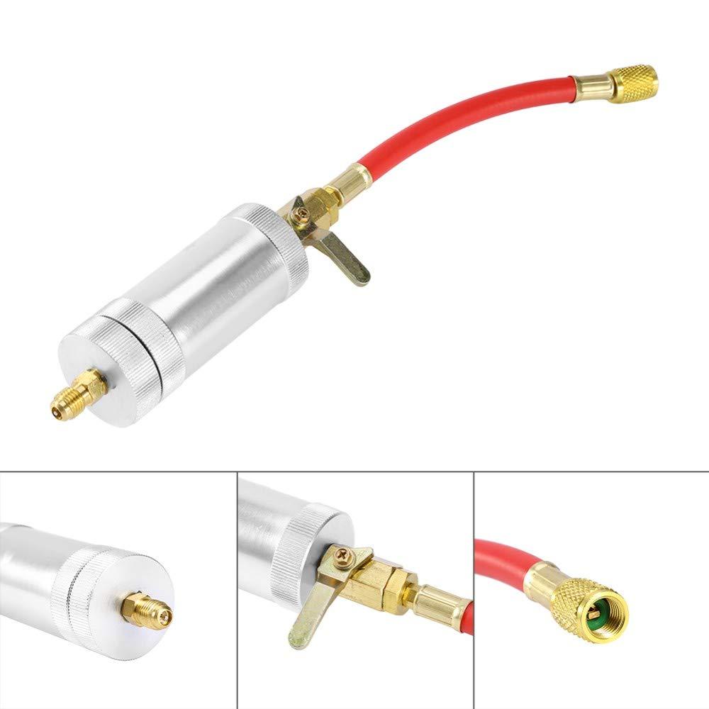 SODIAL Coche A//C AC Herramienta de Inyecci/ón de Aceite Y Tinte Oz 1//4 SAE 134A 2 Onzas de Engrasador R134A R12 R22 Sistema de Aire Acondicionado de Refrigeraci/ón Llenador de Aceite