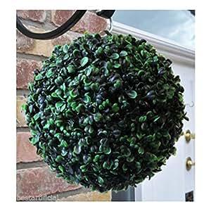 Best Artificial–Juego de 4bolas de boj artificial arbusto hierba 23