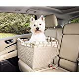 Solvit Dog Booster Seat with Tether for Car/Truck/SUV, Taupe, Jumbo
