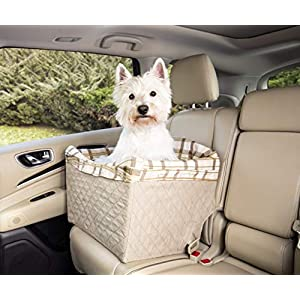 PetSafe Jumbo Deluxe Pet Safety Seat - Car Booster Seat for Dogs up to 35 lb. 111