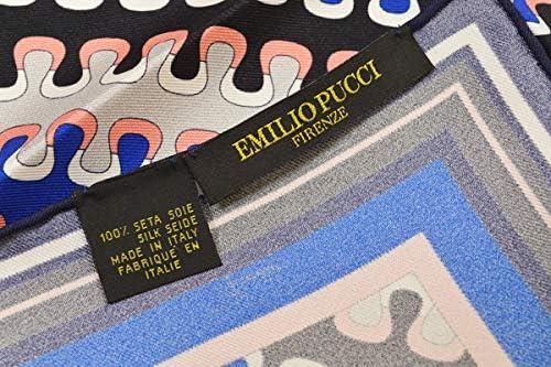 (エミリオプッチ)ポケットチーフ メンズ プッチ柄シルクポケットチーフ(サイズ32×32cm)eep19w145 ネイビー