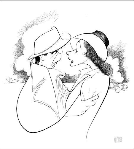 Al Hirschfeld's CASABLANCA Hand Signed Limited Edition Lithograph; Humphrey Bogart & Ingrid Bergman