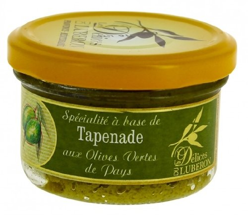 Delices du Luberon - French Green Olive Tapenade - 3.1 oz (Green Olive Tapenade)