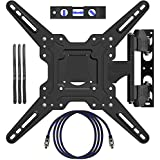 """EpeiusMount TV Wall Mount for most 22""""-55"""" LED LCD Plasma Flat Screen Monitor up to 90 lb VESA 400x400 with Full Motion Swivel Articulating 20 in Extension Arm, HDMI Cable ,Cable Ties & Bubble Level"""