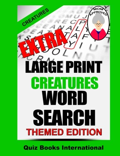 Download Extra Large Print Word Search - Creatures PDF