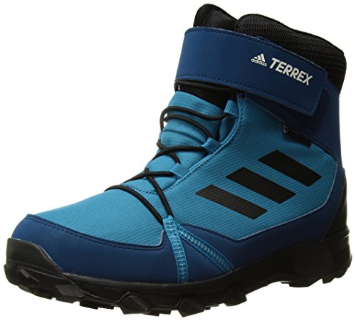 adidas Outdoor Unisex-Kids Terrex Snow CF CP CW K Hiking Shoe,Mystery Petrol/Black/Blue Night,2 Child US Little Kid