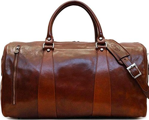 Super Tuscan Leather Duffle Travel Bag Model #1 by Floto (Image #8)