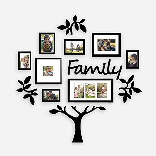 Jerry   Maggie   Photo Frame   Plaque College Frame   Wall Decoration Combination   Black Pvc Picture Frame Selfie Gallery Collage With Hanging Template   Wall Mounting Design   Family Tree