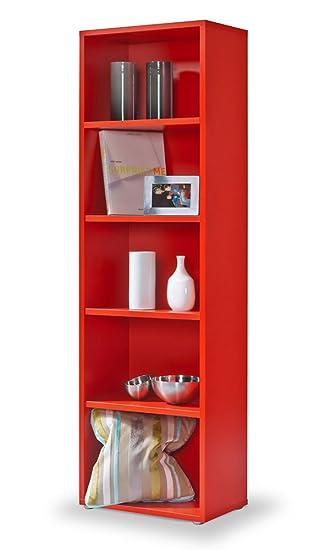 Bücherregal System regal rot click system keine schrauben und dübel bücherregal rot