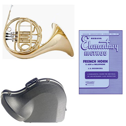 Band Directors Choice Single French Horn in F - Rubank Elementary Method Pack; Includes Student French Horn, Case, Accessories & Rubank Elementary Method Book by French Horn Packs