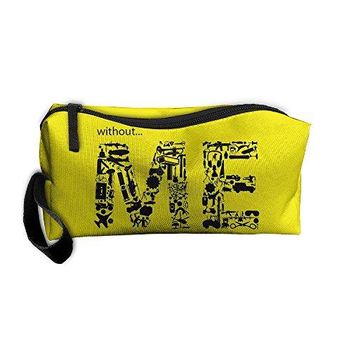 Kla Ju Portable Pencil Bag Purse Pouch Me Letters Design Stationery Storage Organizer Cosmetic -