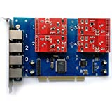 4 Port Analog Card with 4 FXO Ports Supports FreePbx Issabel Asterisk PCI Card tdm410