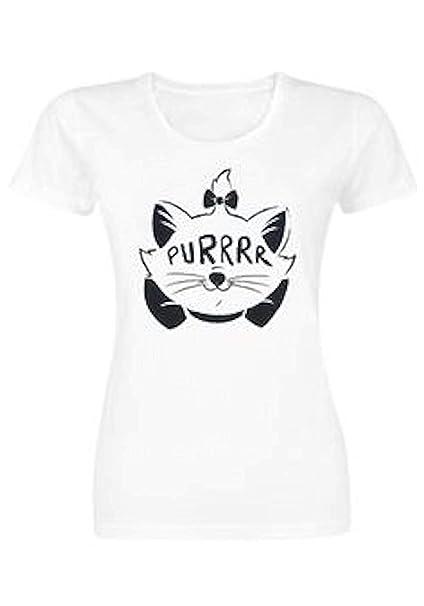 Los Aristogatos - Disney Gato Purrrr - Oficial Mujer Camiseta: Amazon.es: Ropa y accesorios