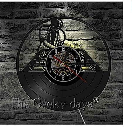 ZBBSHOP Reloj de Pared Tocadiscos Disco de Vinilo Reloj de Pared ...