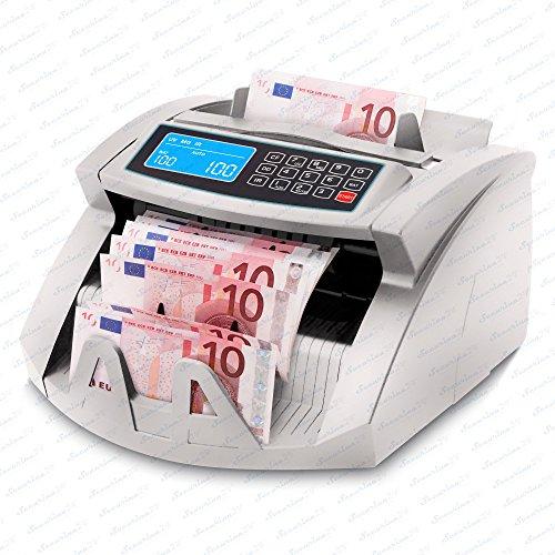 Geldzählmaschine Geldzähler Geldscheinzähler SR-3750 LCD UV/MG/IR von Securina24® (Silbergrau - LCD)