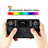 KingLeChange Q9 Backlit Wireless Mini Keyboard with Touchpad for Smart TV, Android TV Box, PC and More 2.4Ghz Kodi Remote Control with Rechargable Li-ion Battery Built in