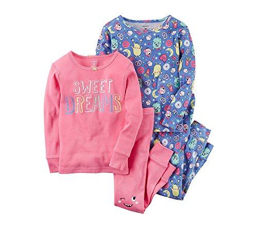 67333b4c0c2f 4-Piece Sweet Dreams Snug Fit Cotton Pajamas