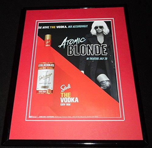 Stolichnaya Vodka/Atomic Blonde 2017 Framed 11x14 ORIGINAL Advertisement ()