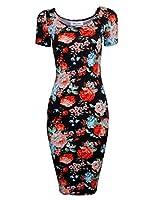 Tom's Ware Women's Sweetheart Short Sleeve Midi Dress