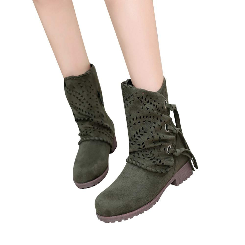 Gyoume Winter Ankle Boots Women Hollow Out Bandage Boots Shoes Flat Wedge Boots Shoes