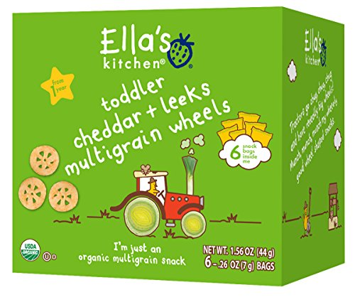 Ella's Kitchen Organic Multigrain Wheels - Cheddar   Leeks - 6 ct