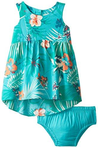 Roxy Baby Girls' Over Seas Dress, Waterfall, 12 18 Months