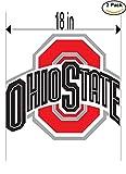Ohio State Buckeyes University Vinyl Sticker Decal Logo NCAA 2 Window Stickers 18 Inches