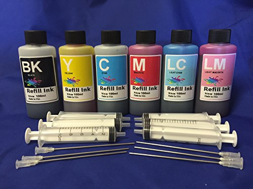 Ink refill set for CIS CISS INK SYSTEM or refillable cartridges For HP 02 802 + free 6 syringes/ needles obfc